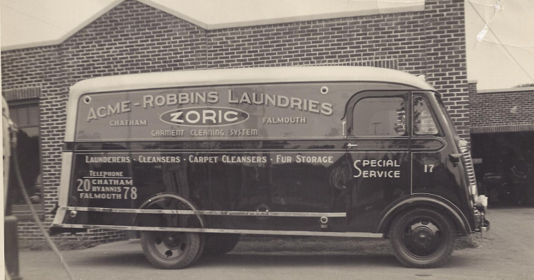 Late 1940s in Front of the now closed Robbins Laundry